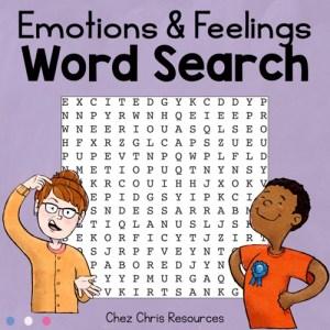 Couverture de la ressource gratuite consacrée au vocabulaire des émotions et des sentiments en anglais
