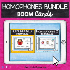 BOOM Cards Homophones BUNDLE