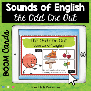 BOOM Cards : The Odd One Out – Sounds of English