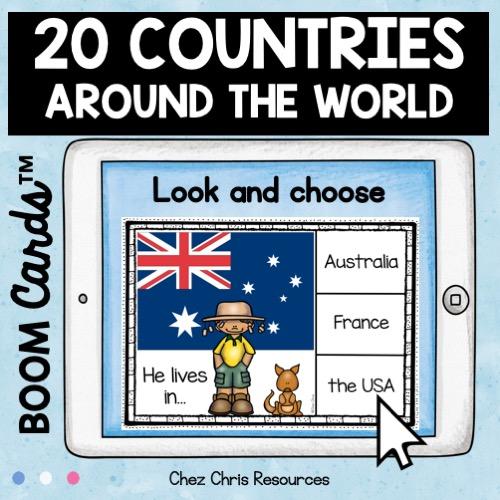 image de couverture: les booms cards sur les noms des pays en anglais