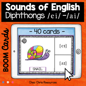 BOOM Cards : Diphthongs – [ei] – [ai] + Audio Included