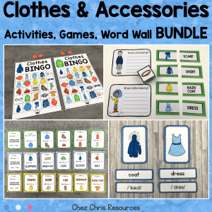 Clothes Vocabulary Activities and Games Bundle