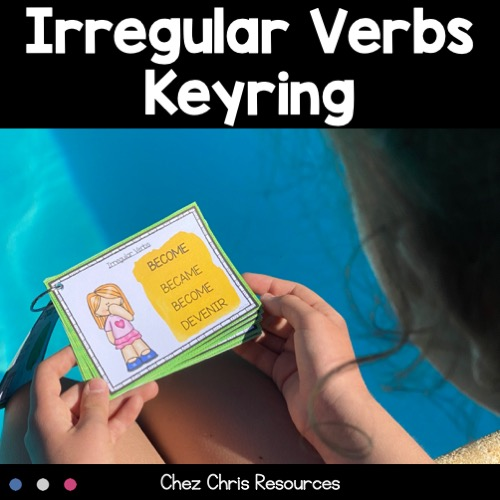 Les verbes irréguliers en anglais - présentation en éventail : image de couverture