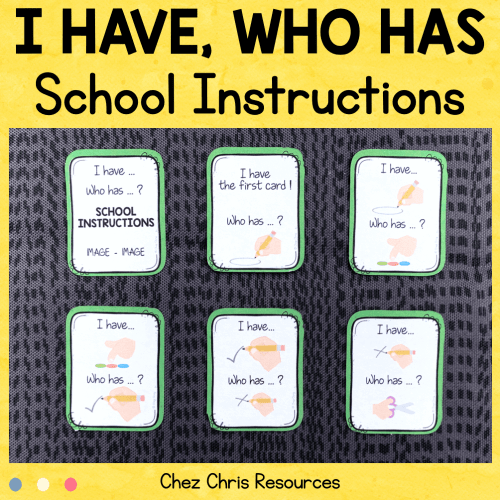 I have who has - School Instructions