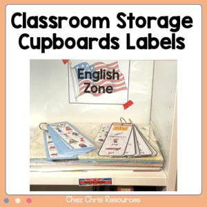 Classroom Storage Cupboards Labels