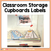 Classroom Storage Cupboards Labels