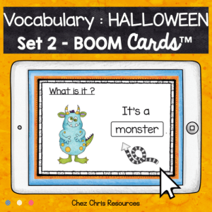 BOOM Cards : Halloween Vocabulary – Set 2
