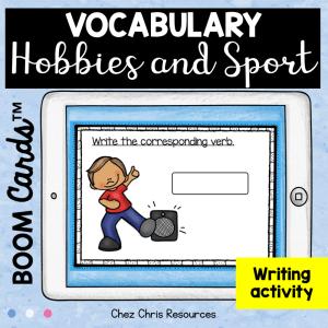 BOOM Cards : Hobbies & Sport Vocabulary – Writing