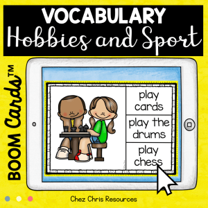 BOOM Cards : Hobbies & Sport Vocabulary – Set 1