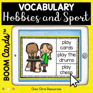 BOOM Cards : Hobbies & Sport Vocabulary – Set 1