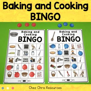 Baking and Cooking Vocabulary Bingo