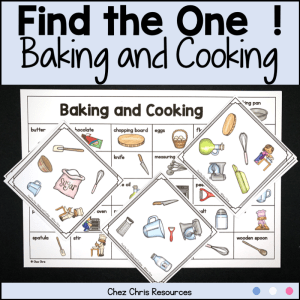 Baking and Cooking Vocabulary Game – Find the one!