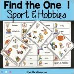 couverture du jeu de vocabulaire sur les sports et les hobbies