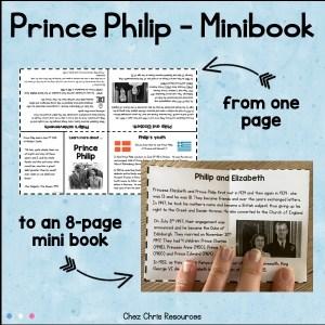 Un mini livre à imprimer sur le Prince Philip
