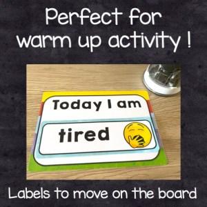 le vocabulaire des émotions: une activité parfaite pour le warm up