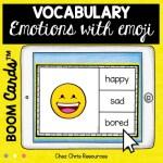 couverture : les émotions en anglais avec les boom cards