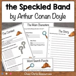 couverture de la ressource étude de texte Sherlock Holmes, the Speckled Band