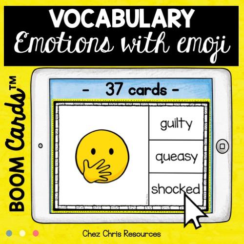 vignette sur les émotions en anglais avec les smileys