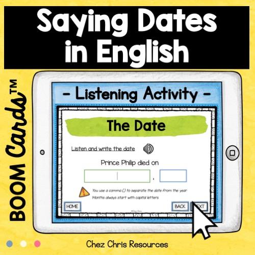 la date en anglais: activité de compréhension orale