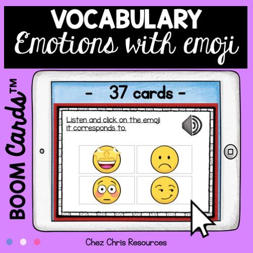 vignette 2 sur les émotions en anglais: activité d'écoute - les élèves sélectionne le bon emoticon