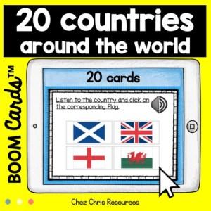 20 pays du monde: il faut choisir le drapeau correspondant au mot entendu