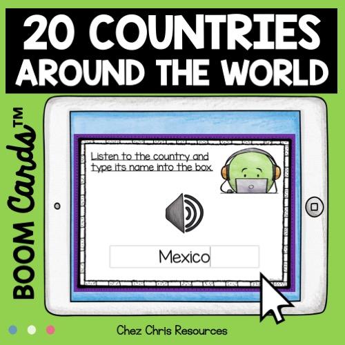 vignette 2 de la ressource 20 pays du monde en anglais