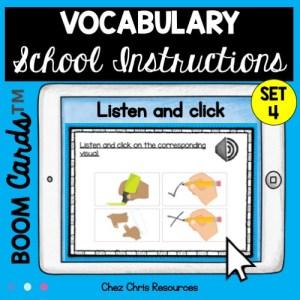 Compréhension orale: les consignes de classe en anglais - vignette 1
