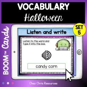 le vocabulaire d'Halloween : écoute et écris le mot
