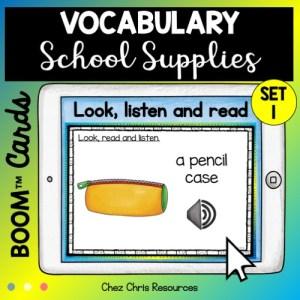 Les fournitures scolaires en anglais deck 1: le lien graphie phonie