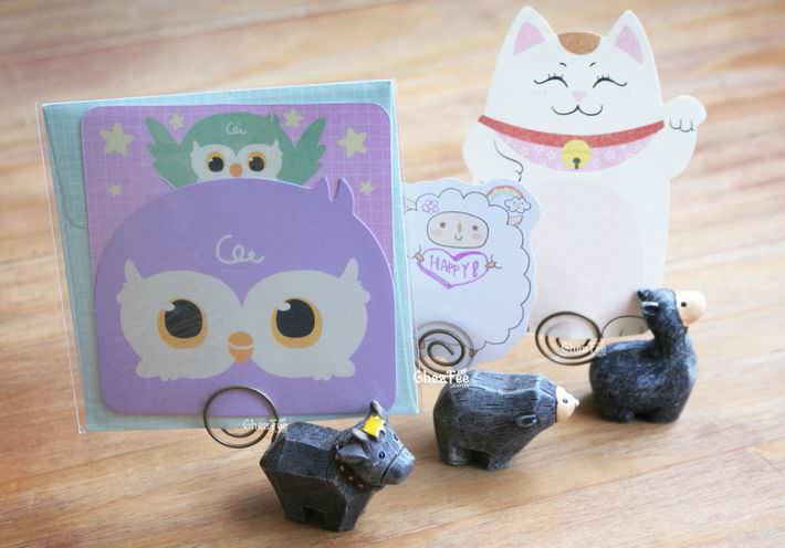 porte-memo-message-porte-photo-style-rustique-lama-vache-souris-kawaii-mignon-chezfee