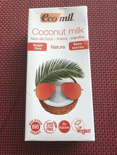 Lait de coco sans sucres