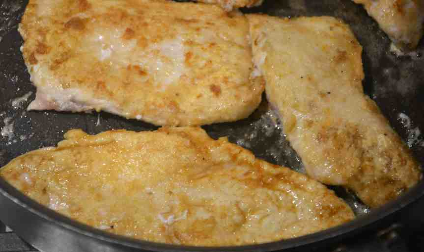 Turkey Escalopes with Garlic, Lemon and Sage Butter