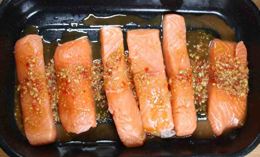 Chilli and Ginger Glazed Salmon