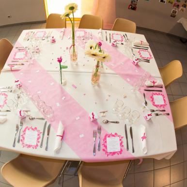 mariage lego table rose