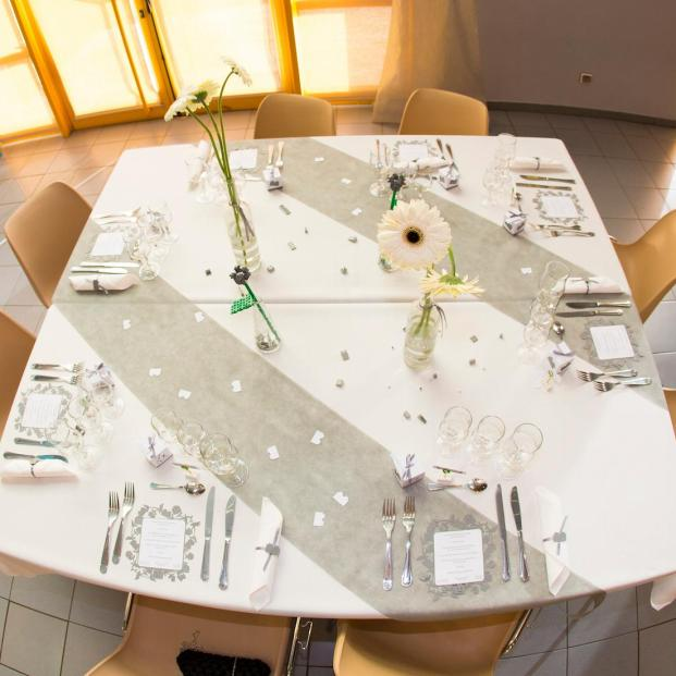 mariage lego table grise