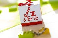 Boîte de dragées de notre mariage