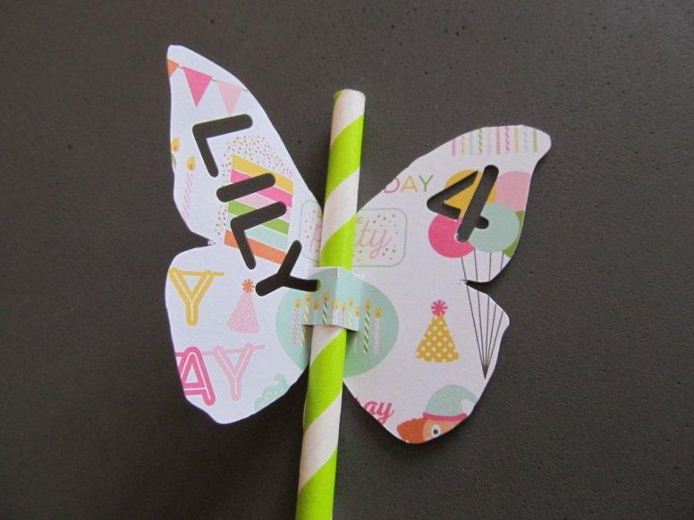paille papillon