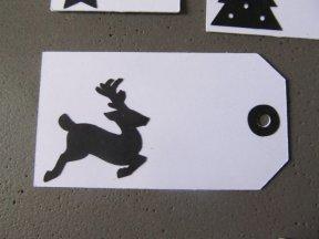 cadeau de noel, étiquette blanche et noire (7)
