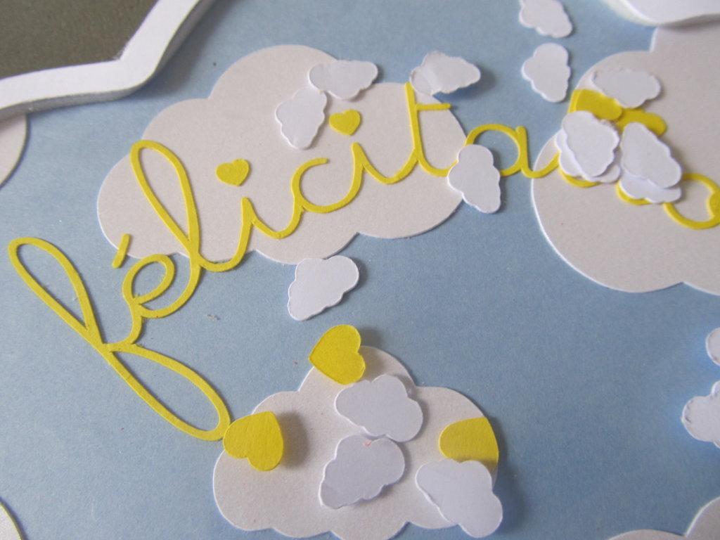 carte nuage à secouer naissance garçon