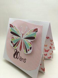 carte papillon anniversaire