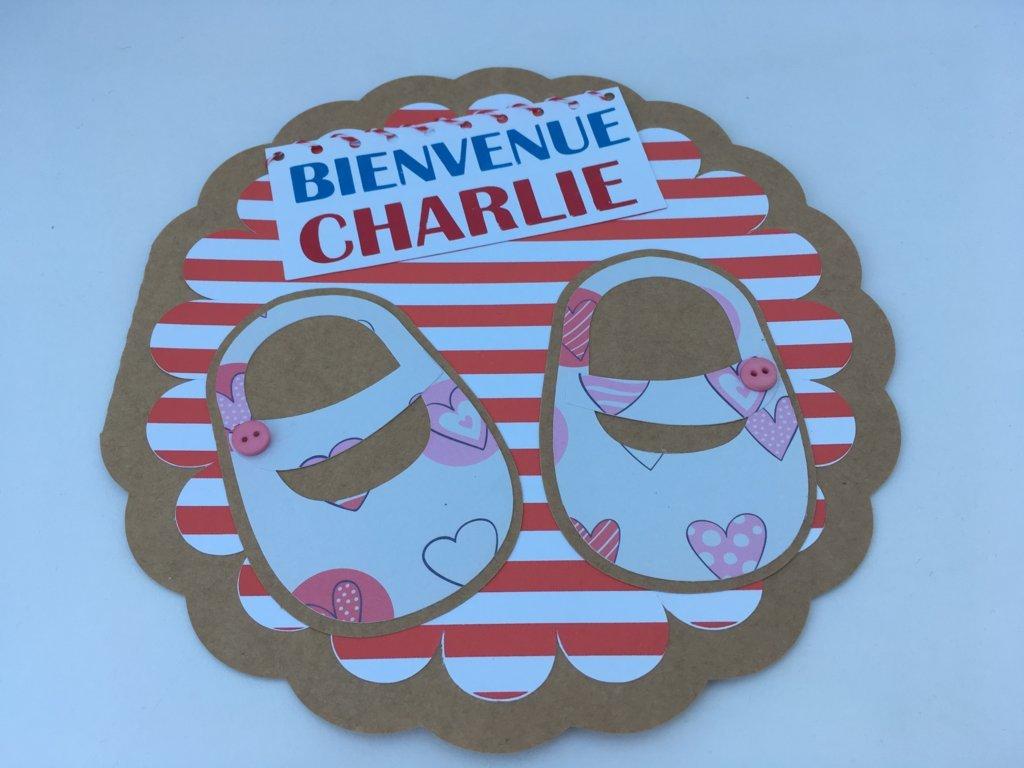 carte de naissance Charlie ronde