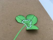 herbier en papier feuille de trèfle