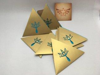 anniversaire zelda invitation triangle