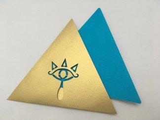 anniversaire Zelda invitation dorée