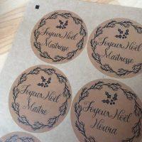 Etiquettes Maîtresse Joyeux Noël à imprimer