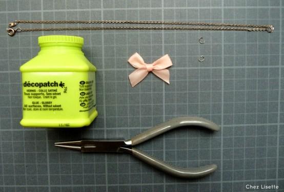 Chez Lisette DIY collier noeud