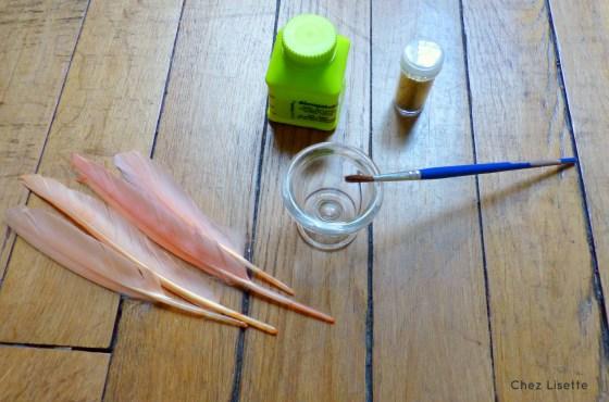 Chez Lisette DIY plumes pailletées