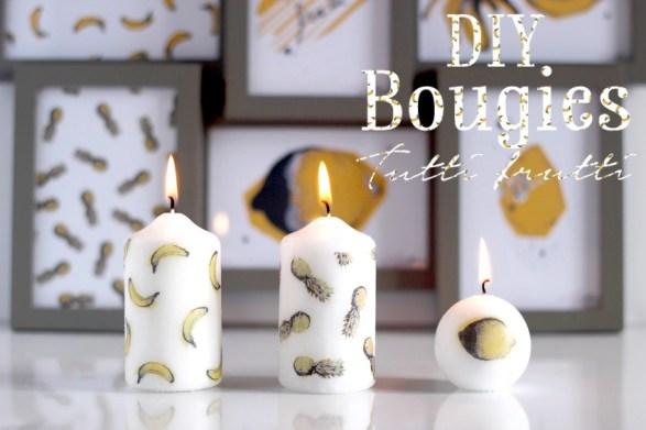 Artlex - DIY bougies tutti frutti