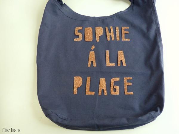 Chez Lisette DIY sac en tissu de plage placement