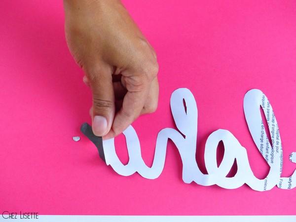 Chez Lisette DIY déco tropicale en papier fixer